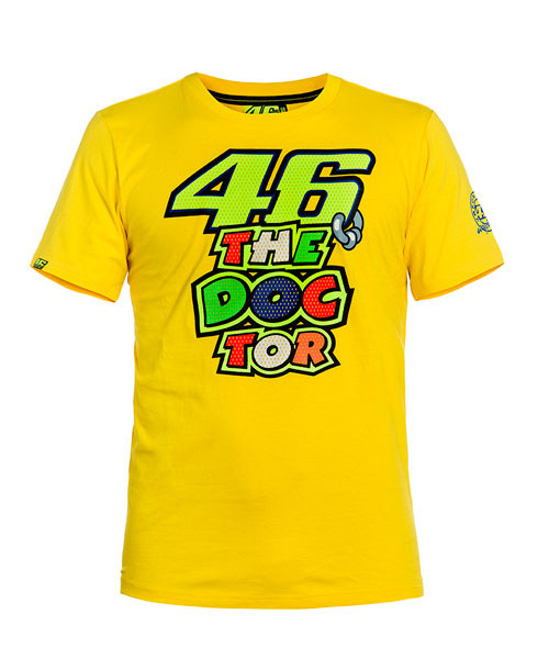 Valentino Rossi Mens 46 The Doctor T Shirt Yellow