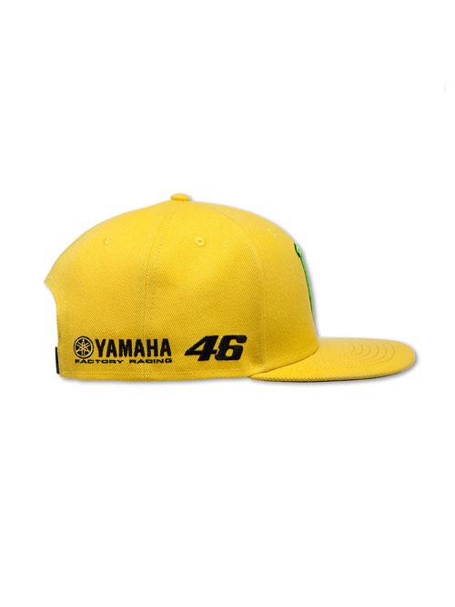Valentino Rossi 46 Yamaha yellow flat peak cap 7abf54526ee