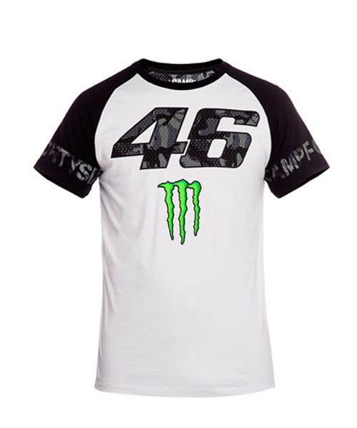 valentino rossi camp fortysix men 39 s t shirt white. Black Bedroom Furniture Sets. Home Design Ideas