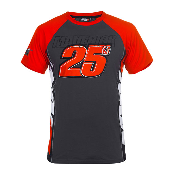 MAVERICK_VINALES_MENS_GREY_RED_TSHIRT_2017