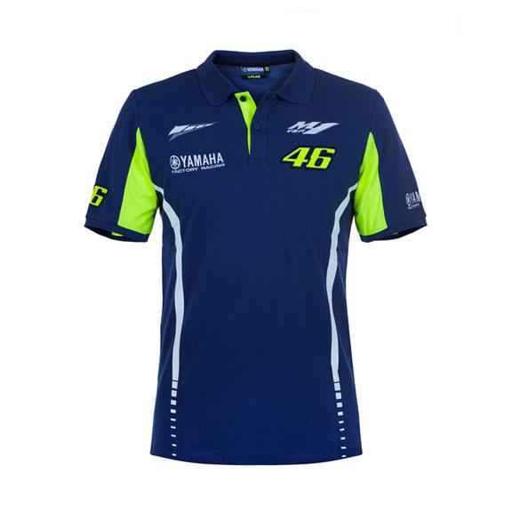 Valentino Rossi Mens Yamaha Dual Polo Shirt