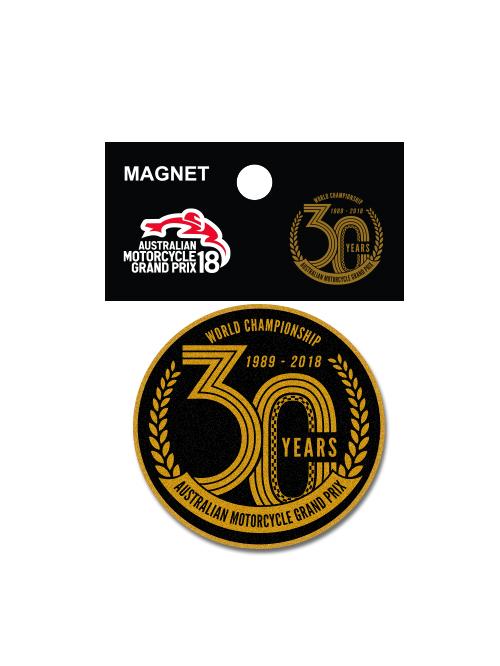 AMGP18M-094-Australian-Motorcycle-GP-30-years-Magnet